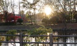 那須塩原の河畔公園です